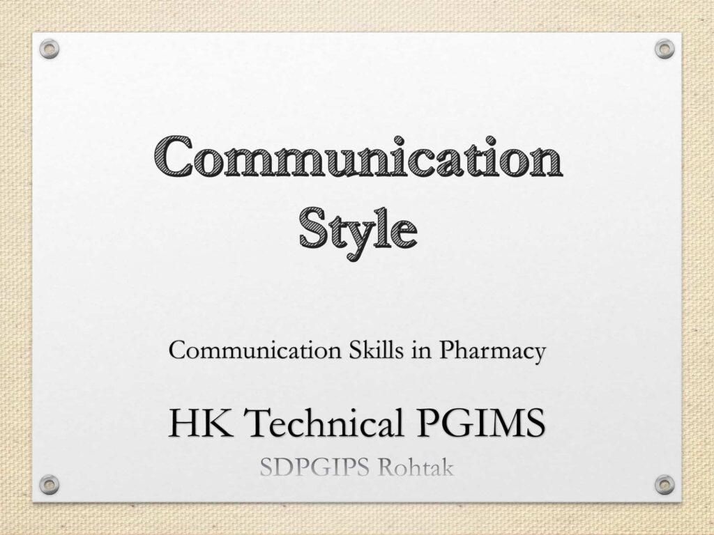 Communication Style